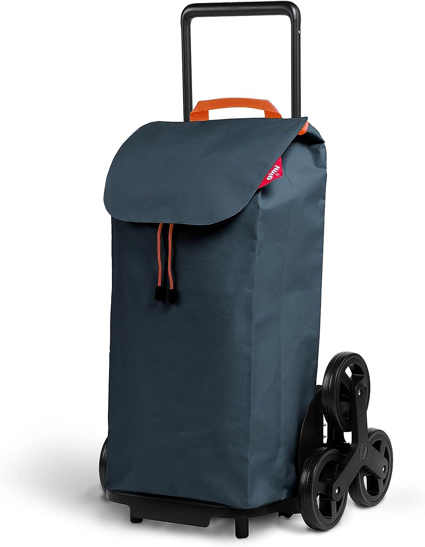 Gimi Tris Urban - Carro de la compra con 6 ruedas, bolsa impermeable 100% poliéster, capacidad 52L, 44,1 x 50,7 x 95,6 cm, color gris