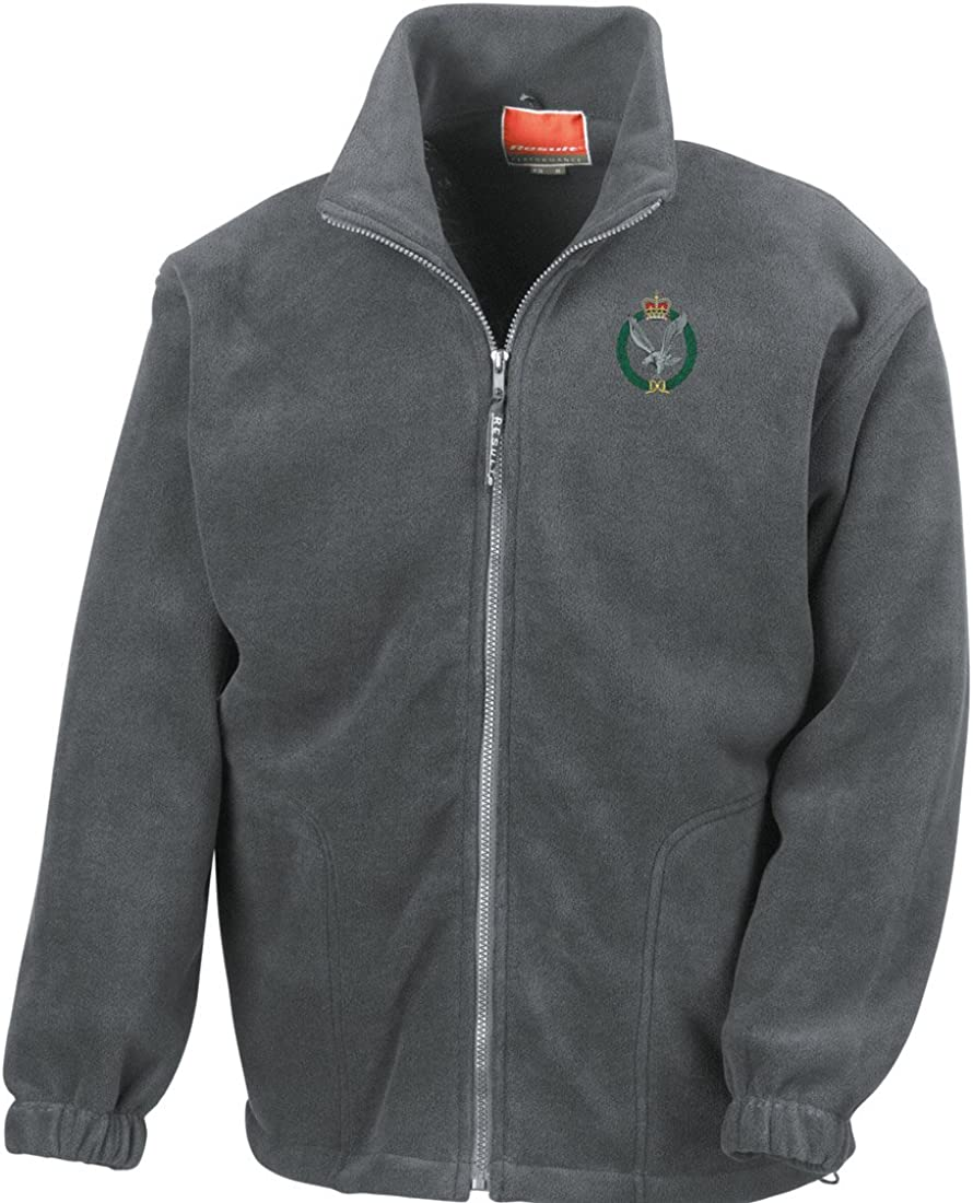 Official British Army Full Zip Heavyweight Fleece Jacket Military Online Army Air Corps AAC Embroidered Logo