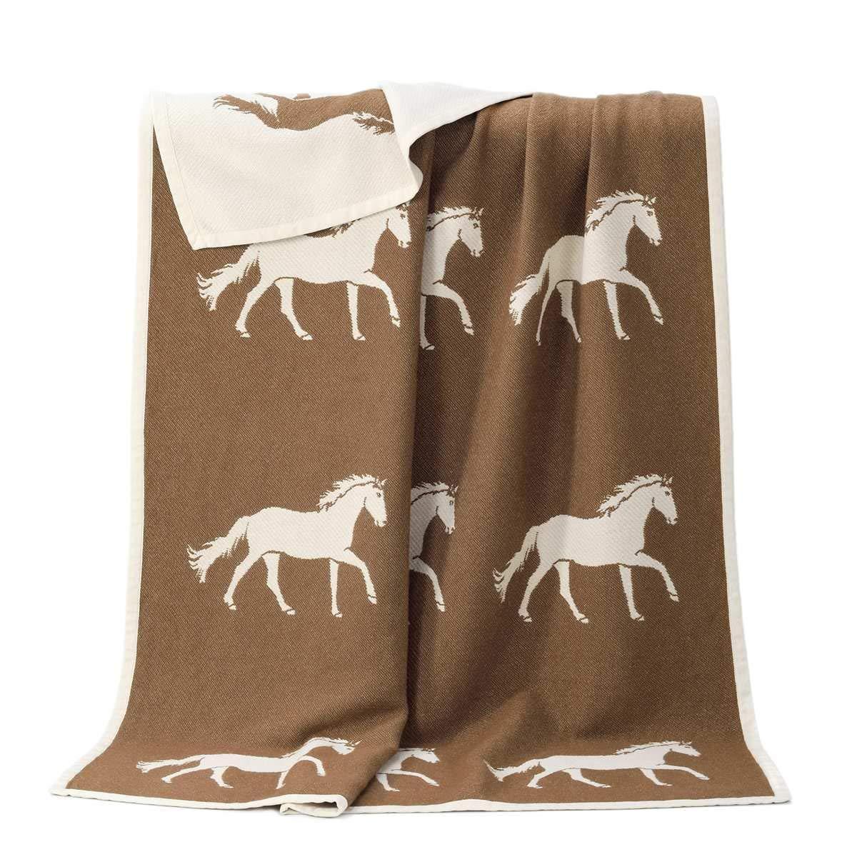 乗馬用品 J.J.Textile ホース コットン ブランケット 乗馬 馬具