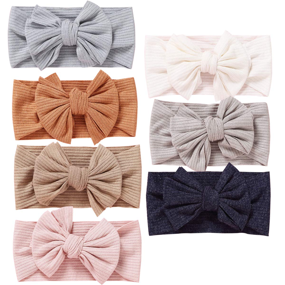 Baby Girl Headbands Newborn Infant Toddler Hairbands and Bows knotted Soft Headwrap Child Hair Accessories