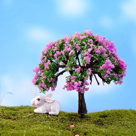 zrshygs Maceta Decoraciones Mini Plantas de árboles de Hadas Miniatura Casa de muñecas DIY Jardín Micro Bonsai Decoración: Amazon.es: Hogar