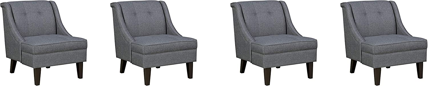 Signature Design by Ashley - Calion Contemporary Accent Chair, Dark Gray (Pack of 4)