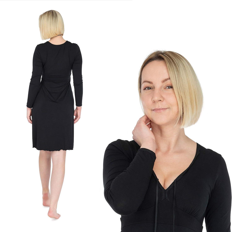 fbc156284962ea Nachtkleid aus Bambus; Damen Langarm-Nachthemd; Schlafkleid f/ür Frauen;  Made IN EU; Bonus Brazilian ...