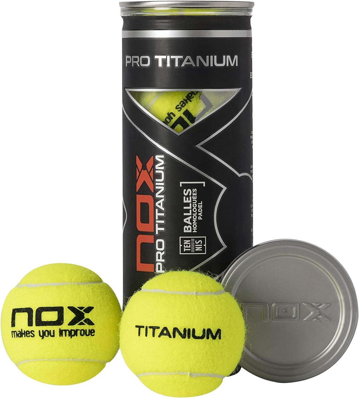 NOX Bote de 3 Pelotas de pádel Pro Titanium, Deportes al Aire ...