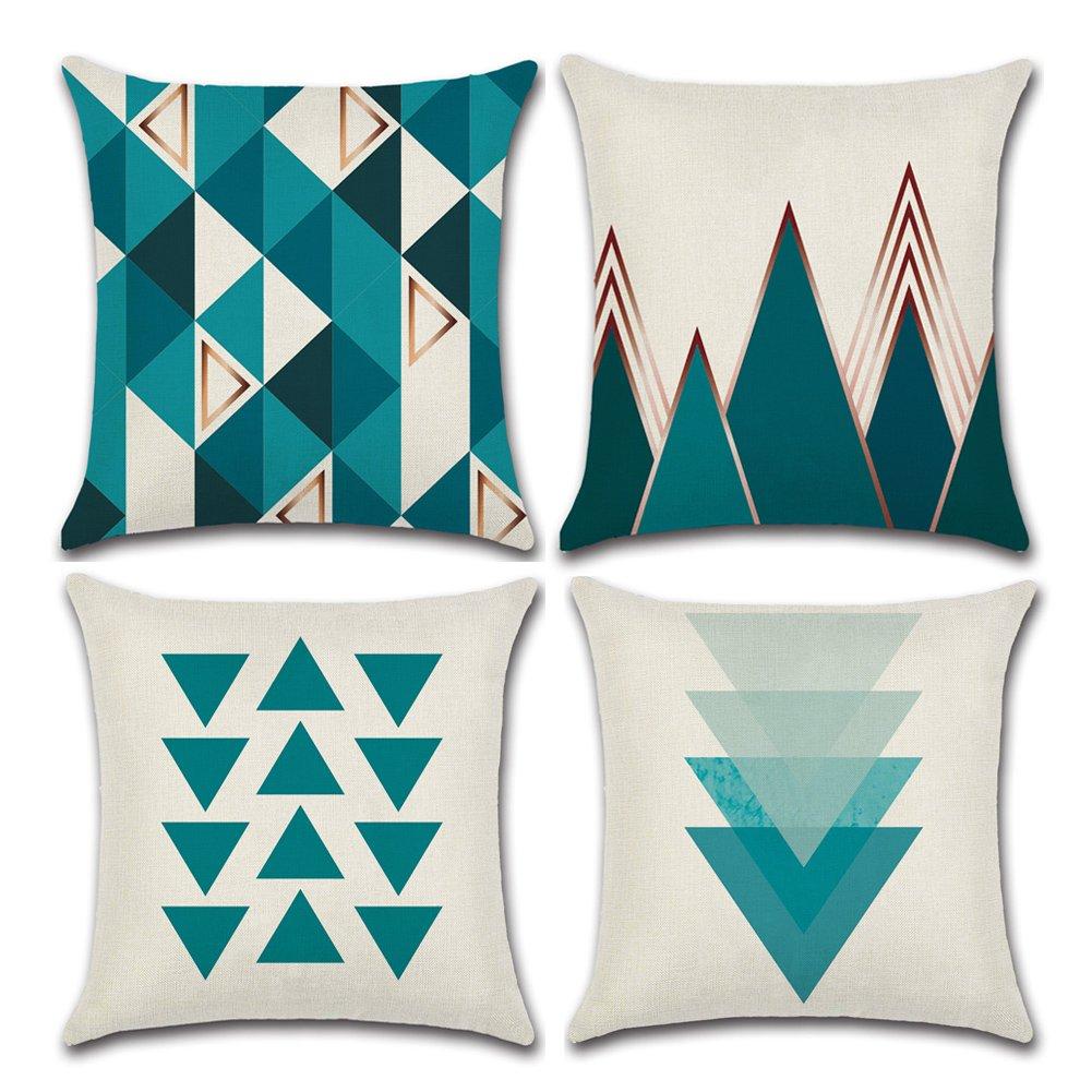 Modern Nordic estilo Simple Simple Simple geométrico yute de lino y algodón manta almohada cojín para hogar decorativo 18