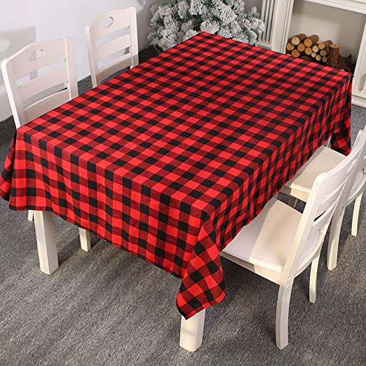 Wipe Clean Tablecloth Gold Red Xmas Baubles PVC Vinyl Table Cover