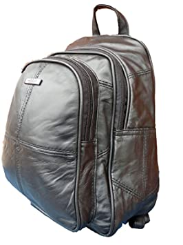 Mochila de cuero - Bolsas de lujo suave de la oveja Negro Mochila Nappa - tamaño pequeño bolso ...