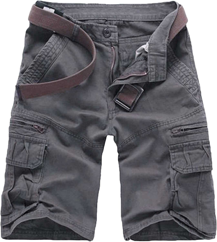 TALLA 46. Elonglin Pantalón Corto - Cargo - Básico - para Hombre