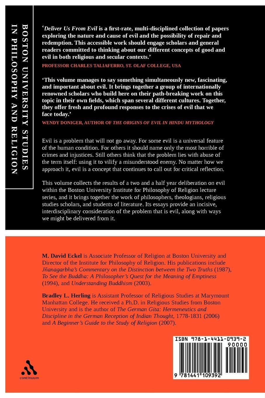 Deliver Us From Evil: Boston University Studies in Philosophy and Religion:  M. David Eckel, Bradley L. Herling: 9781441109392: Amazon.com: Books