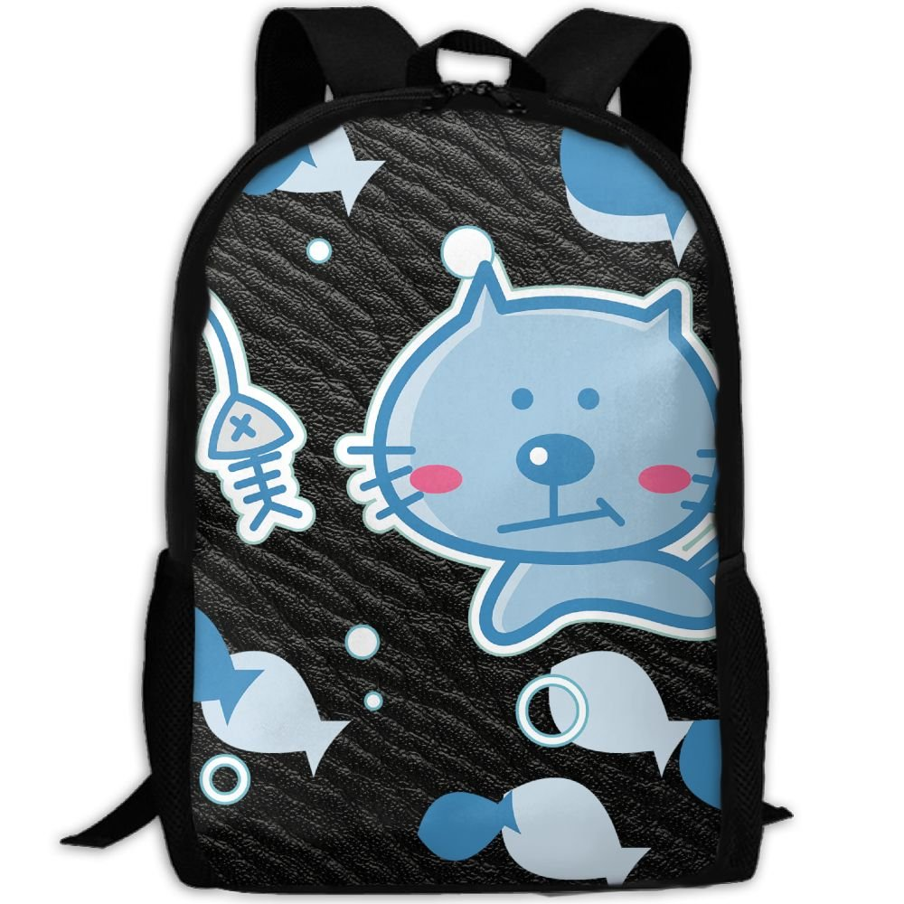 Cute Cat Double Shoulder Backpacks For Adults Traveling Bags Full Print Fashion by THIS STORE