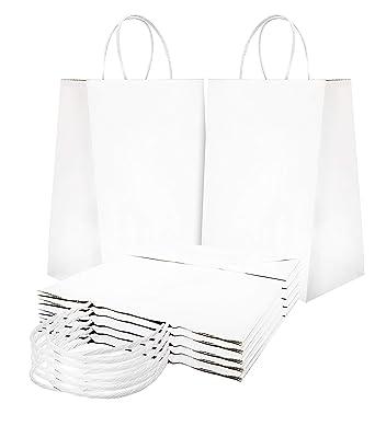 Amazon.com: Bolsas de papel bolsas de la compra. Pack de 25 ...
