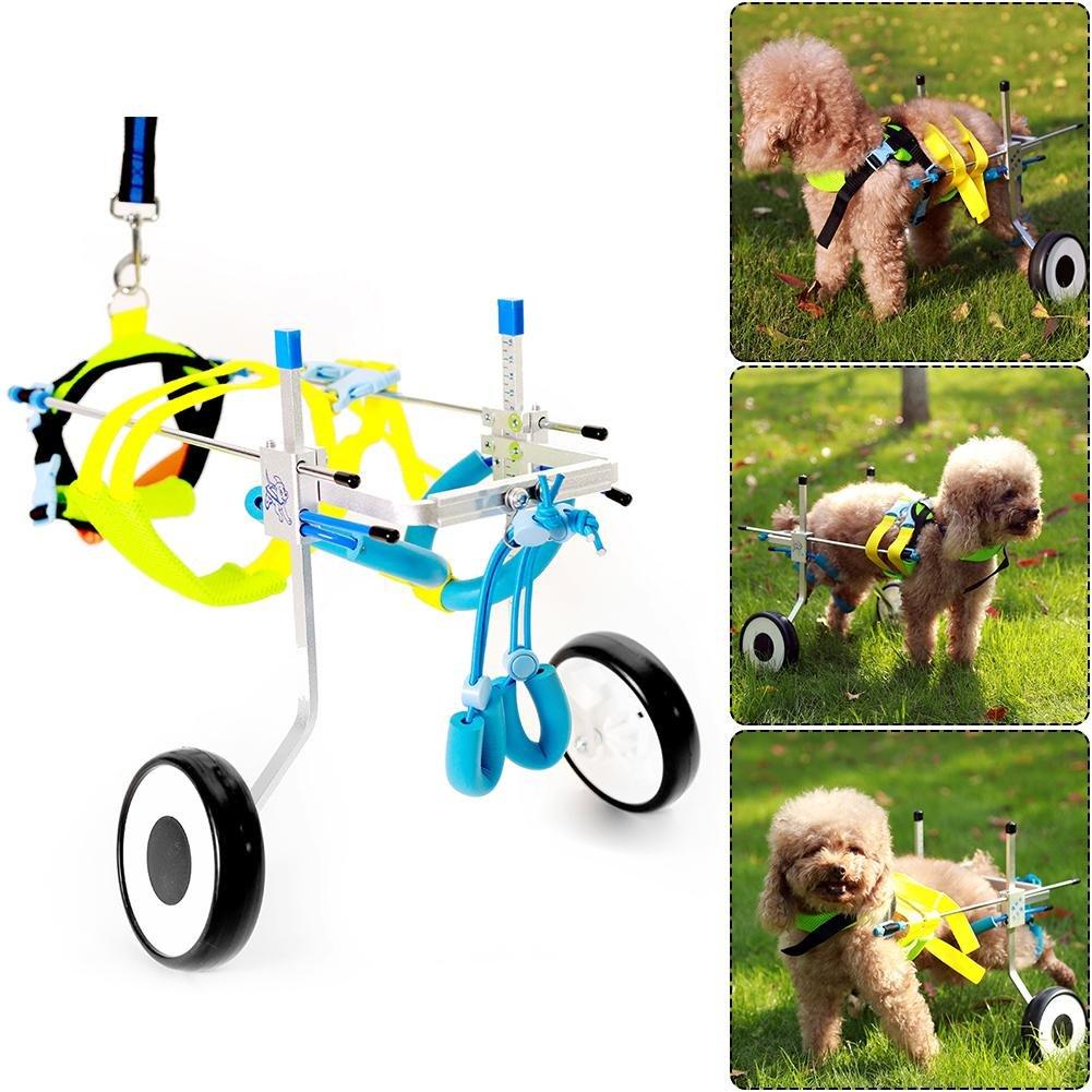 Eachbid 2 Wheel Pet Wheelchair Walk Assistant Cart Kit for Handicapped Cat Dog Puppy Walker XS