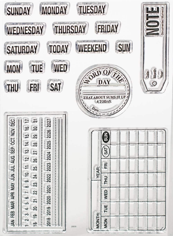Elizabeth Craft Designs Elizabeth Craft Clear Stamps-Calendar