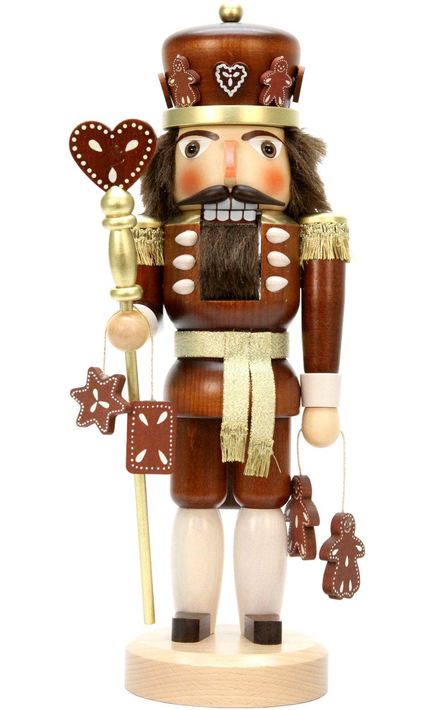 Alexander Taron Importer 32-328 Christian Ulbricht Nutcracker - Gingerbread King (Natural) - 15'' H x 6'' W x 5.5'' D, Brown