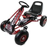 Oypla Childrens PEDAL go KART pedal GO cart GO-KART 3-8yrs PEDAL car KIDS cart Air Inflatable Tyres
