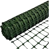 Abba Patio Snow Fence 4' X 100' Feet Plastic Safety Fence Roll Temporary Poultry Fencing Mesh Economy Construction Fencing fo
