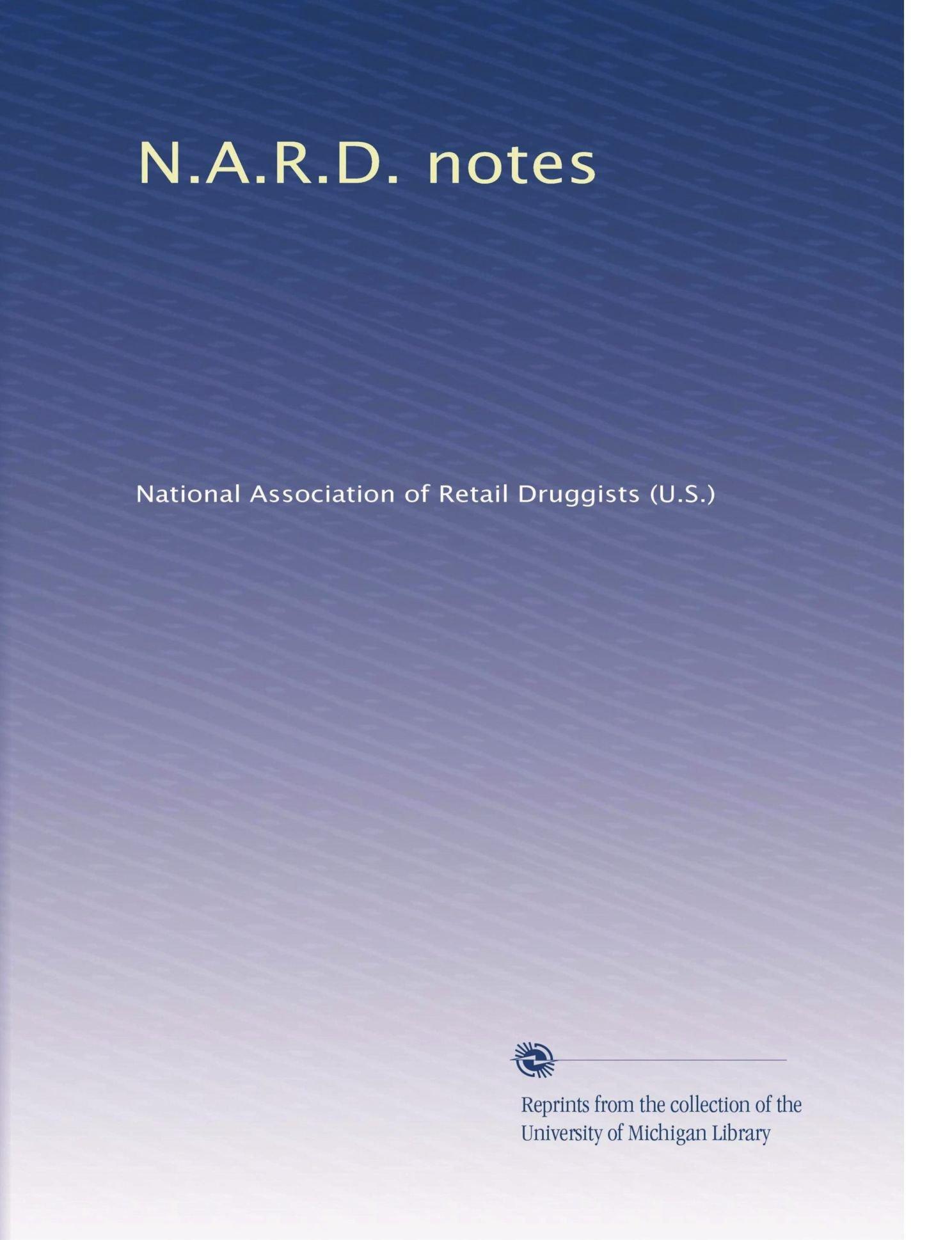 N.A.R.D. notes (Volume 26) pdf epub