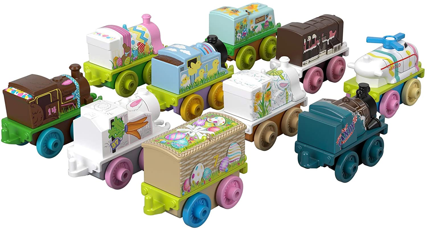 Multicolor Thomas /& Friends Fisher-Price Minis Spring Basket Toy