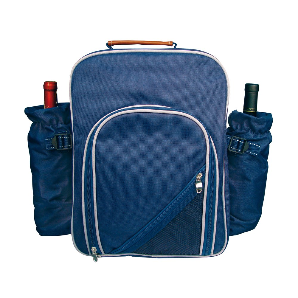 eBuyGB Large 2 in 1 Insulated Lightweight Travel Backpack Cooler Bag for Men and Women with Cutlery Set for Camping, Picnics, Hiking, Fishing, Hunting and Backpacking - Blue