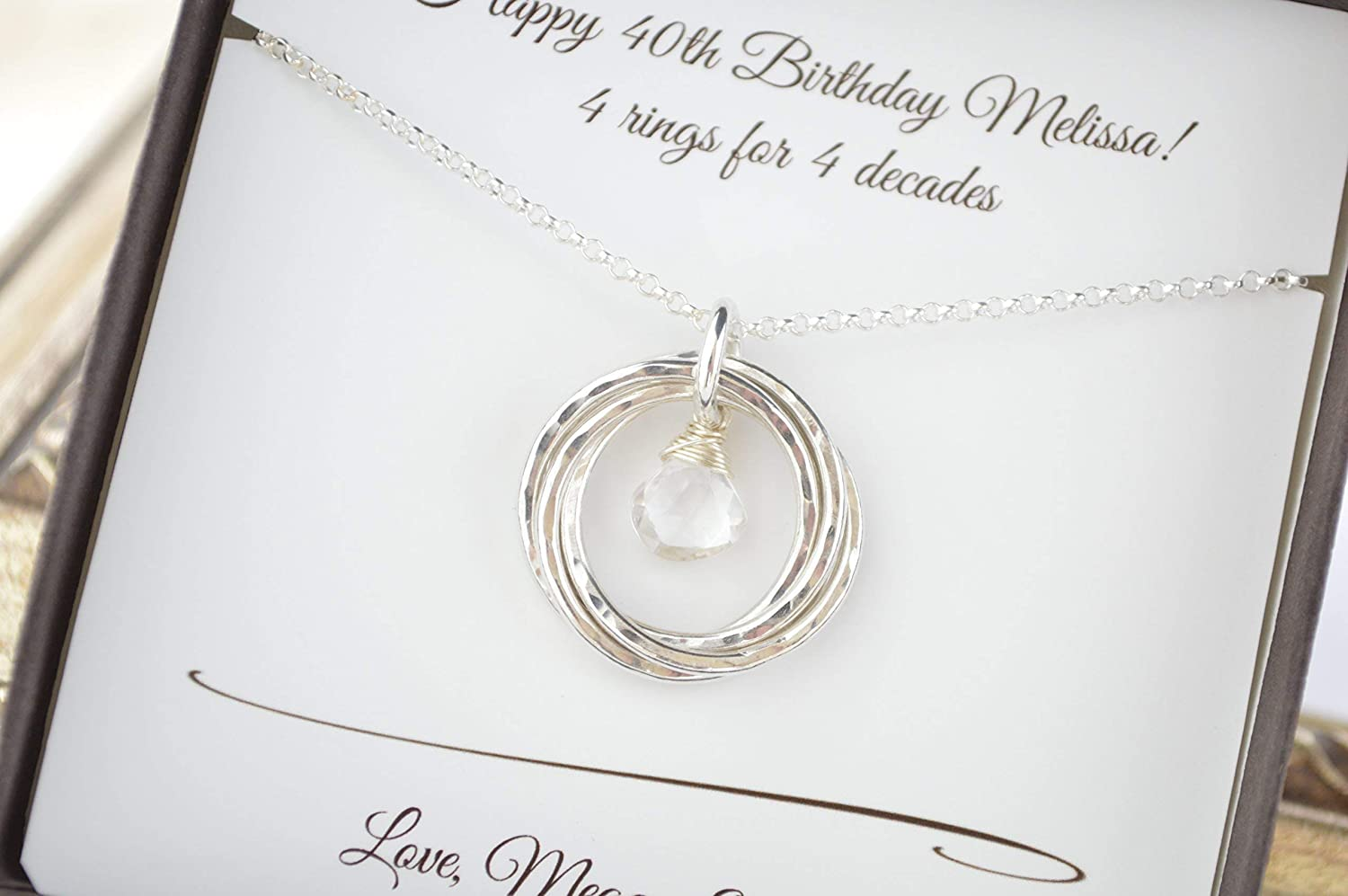 Amazon April Birthstone Necklace 40th Birthday Gift For Her 4th Anniversary Wife Sister Jewelry 4 Best Friends Neck