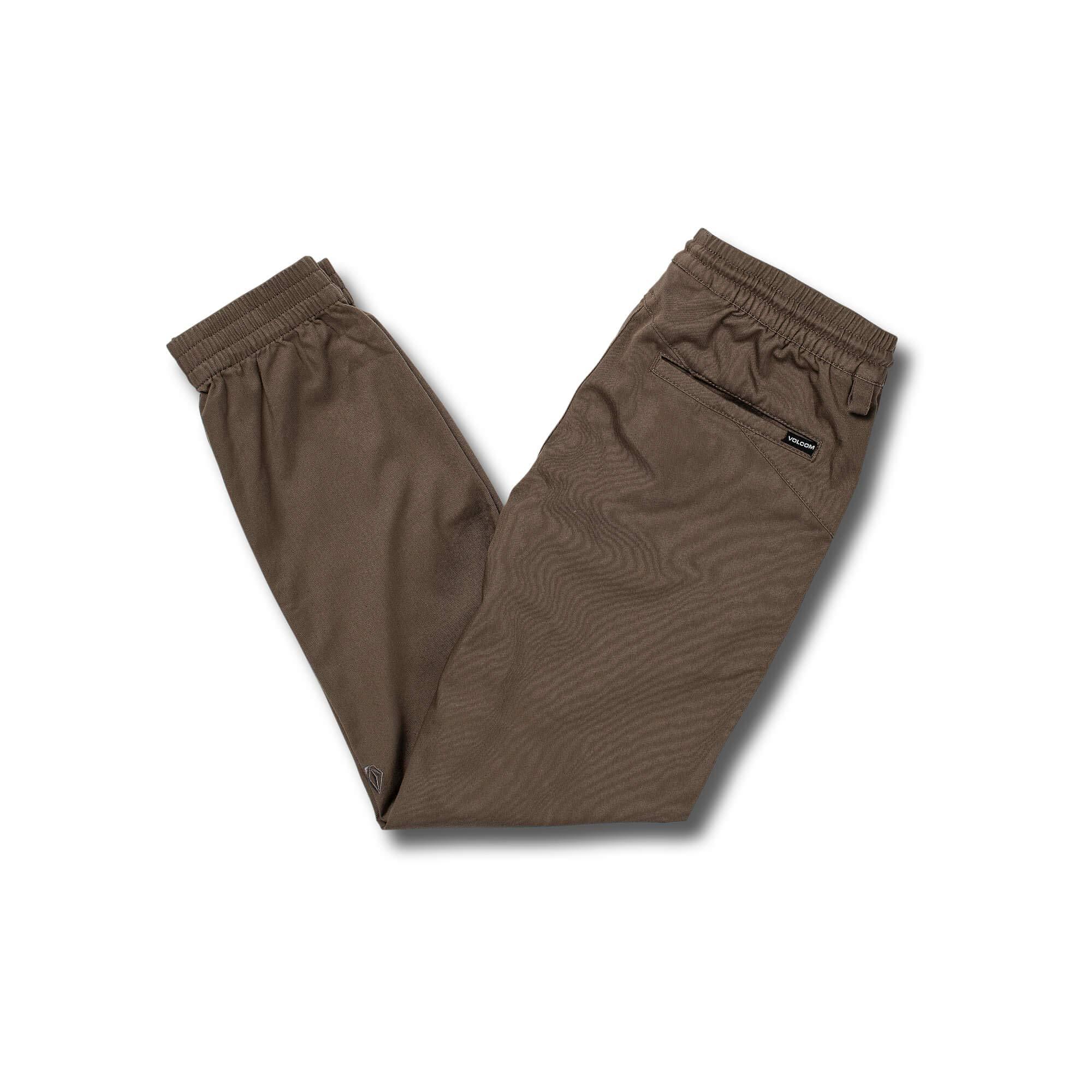 Volcom Boys' Big Frickin Modern Tapered Jogger Pant, Mushroom, Medium