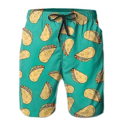 c382b70d2a Sweet Potato Tacos Pattern Men's Printing Quick Dry Beach Board Shorts Swim  Trunks M
