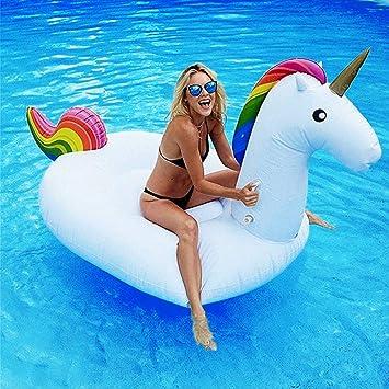 Dracarys Juguete Hinchable Flotante Gigante del Unicornio Piscina Cama Flotante Unicornio General y Adulto y Anillo de la natación del niño y Silla de la recreación del Agua (msdium): Amazon.es: Juguetes y