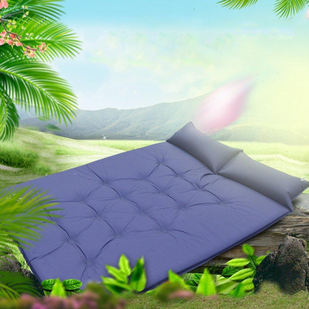 Jiu Bu Im Freien Camping Isomatte Erhöhen Verdicken Verdicken Verdicken Feuchtigkeitsfest Zeltmatte Doppelt Automatisch Aufblasbares Kissen,Blau B07FJLT9PY   Schön geformt  45e023
