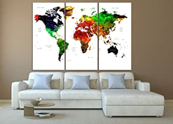 push pin world map wall art large wall art push pin travel world map