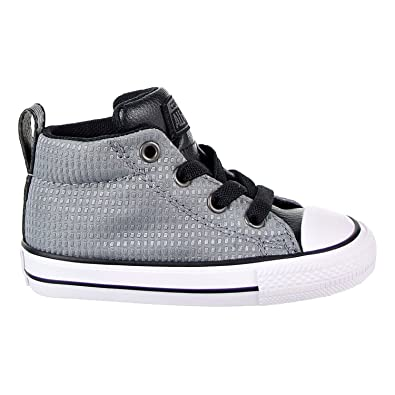 d0cb93a452a60d Converse Chuck Taylor All Star Street Mid Toddler s Shoes Grey Black White  760071f (