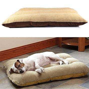 GK Colchón para mascotas, cojín para perro, gato, manta suave, cálida, rectangular grande: Amazon.es: Productos para mascotas