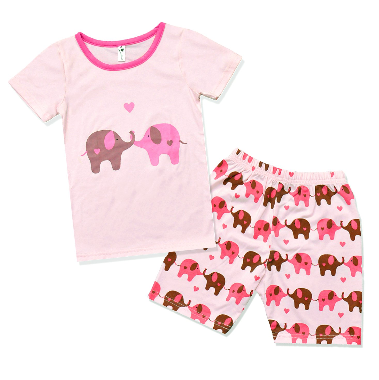 Little Hand Girl Pyjamas Animal 100% Cotton Children Long Sleeve Clothing Sets Kids Sleepwear 2 Pcs PJS Size 2-7yrs