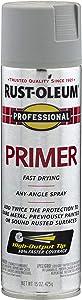 Rust-Oleum 7582838 Professional Primer Spray Paint, 15 oz, Gray Primer