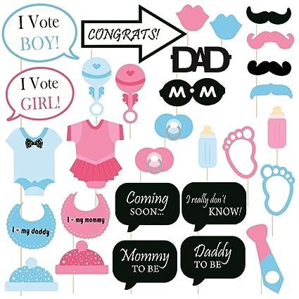 New baby photo booth props boy printable girl