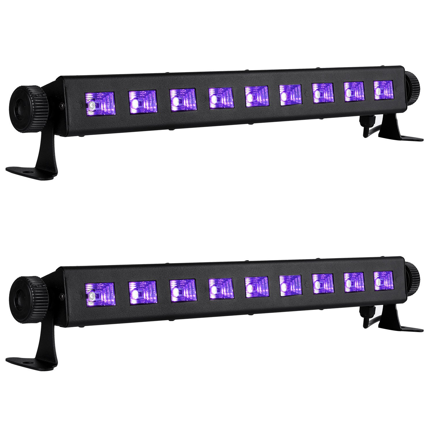 Viugreum 27W UV LED Blacklight LED Bar Black Lights Fixture for Neon Clow Parties Fluorescent Tapestry Poster Paint Lighting DJ Stage - Black (27W-2 PACK) (Ship from USA,delivered it in 3-7 days)
