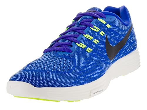 new concept 4722a 872fd Nike Men s Lunartempo 2 Running Shoes, Lima (Racer Blue Black-lt Bl