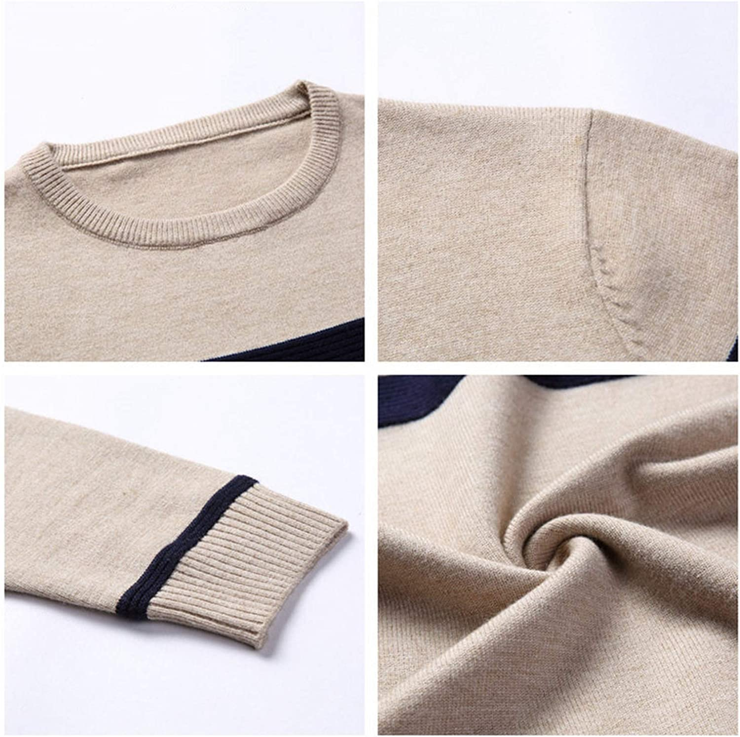 Ill NEVER BE HER Mens Knitted Cashmere Wool Sweaters 2019 Autumn Winter New Pullover Men Casual O-Neck Jumper