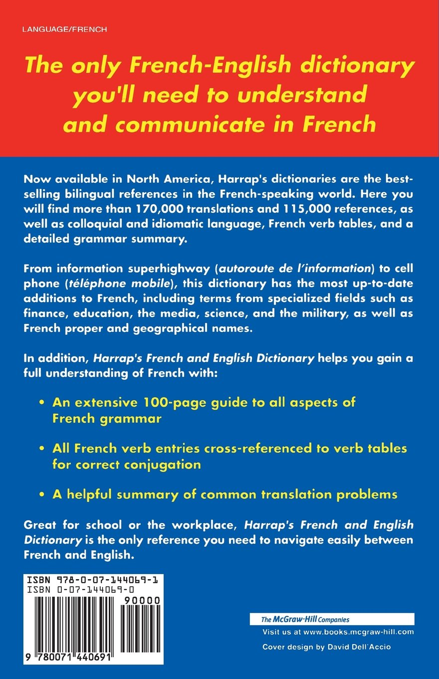 Harrap's French and English Dictionary (Harrap's Dictionaries):  Amazon.co.uk: N/A Harrap: 0639785387473: Books