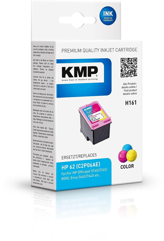 KMP - Cartucho de tinta para HP Officejet 5740; Envy 5640, 7640 ...