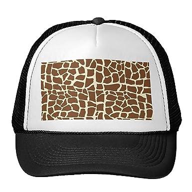 938070a0962 Unisex Black Giraffe Pattern Animal Print Trucker Classic Baseball ...