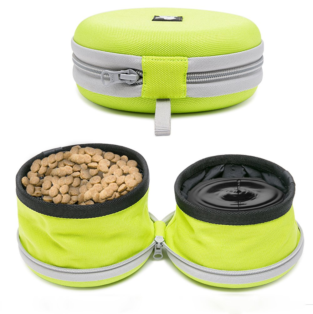Pettom Collapsible Travel Bowl Dog Cat Bowl 900D Oxford Cloth Foldable Portable Pet Food and Water Bowl for Outdoor
