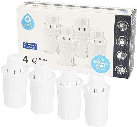 Dafi Filtros de agua (4 unidades, compatible con jarras Brita® Classic)
