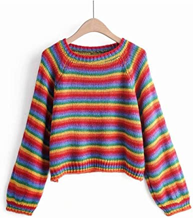 Alion Mens Fashion Crew Neck Pullover Long Sleeve Print Knitted Sweaters