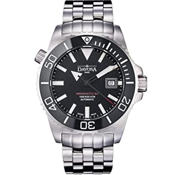 Davosa Automatic Swiss Made Men Watch - Professional Argonautic BG Analog Mechanical Movement Menswatch with Stainless