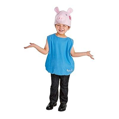Boy's George Pig Costume 2T Blue: Clothing