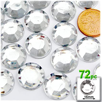 1000 Crystal Rhinestone Silver Flat Back Diamante Acrylic Gem 1 2 3 4 5 6 8 10mm