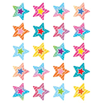 Colorful Vibes Stars Stickers: Office Products