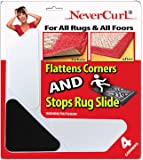 Rug Gripper with NeverCurl Includes 4 V Shape Corners - Patent Pending. Instantly Flattens Rug Corners AND Stops Rug…