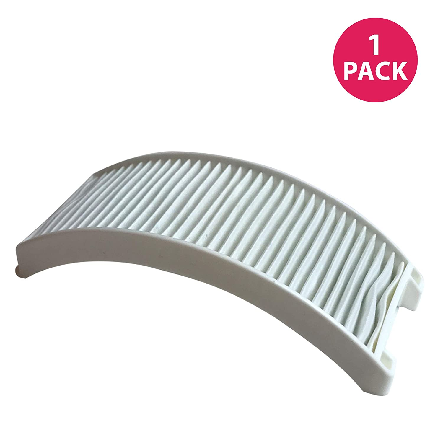 Crucial Vacuum Replacement Air Filter - Compatible with Bissell Style 12 - HEPA Style Filter Parts For PowerForce Bagless Models 6594, 6594F - Pair with Part #203-1402 and 203-8037 - Bulk (1 Pack)