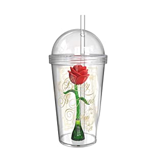 Zak Designs BUBA-S960-AMZ Beauty and The Beast Enchanted Rose Drink Cup, 23 oz,